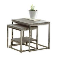 Steve Silver Co. Lucia 2-Piece Nesting Table in Grey