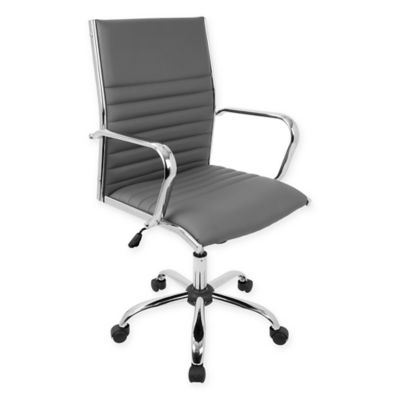 Buy lumisource office from bed bath beyond lumisource master office chair with armrests in grey gumiabroncs Images