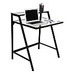 LumiSource 2-Tier Contemporary Desk in Black