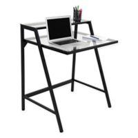 LumiSource 2-Tier Contemporary Desk in Black
