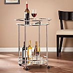 Southern Enterprises Cressida Bar Cart in Chrome