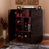 Southern Enterprises Marc Bar Cabinet in Ebony