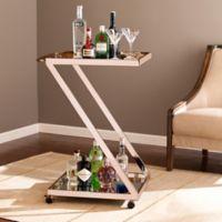Southern Enterprises Rizer Bar Cart in Metallic Gold