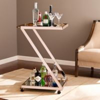 Southern Enterprises Rizer Bar Cart in Metallic Gold