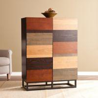 Southern Enterprises Harvey Multi-Tonal Wood Bar Cabinet