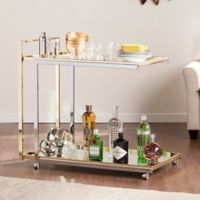 Southern Enterprises Riata Bar Cart in Silver/Gold