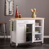 Southern Enterprises Martinville Kitchen Cart in White
