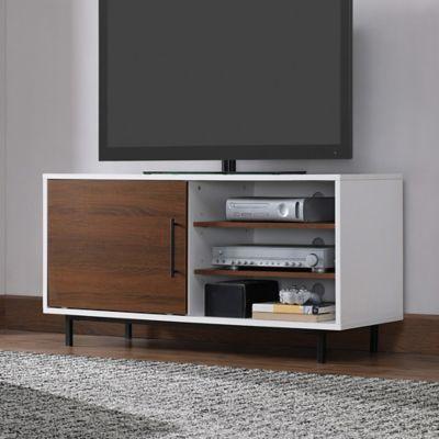 Bellu0027O Wakeman Two Tone TV Stand In White