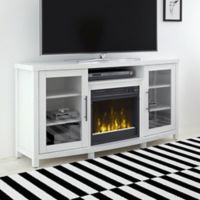 ClassicFlame® Rossville Electric Fireplace and TV Stand in White