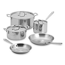 allclad stainless steel 8piece cookware set and open stock