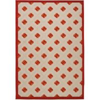 Nourison Aloha Lattice 3-Foot 6-Inch x 5-Foot 6-Inch Indoor/Outdoor Area Rug in Red