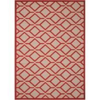 Nourison Aloha Geometric 2-Foot 8-Inch x 4-Foot Indoor/Outdoor Accent Rug in Red