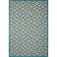 Nourison Aloha Geometric 2-Foot 8-Inch x 4-Foot Indoor/Outdoor Accent Rug in Blue