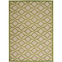 Nourison Aloha Geometric 3-Foot 6-Inch x 5-Foot 6-Inch Indoor/Outdoor Area Rug in Green