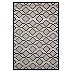 "Nourison Aloha 5'3"" x 7'5"" Machine Woven Indoor/Outdoor Area Rug in Navy"