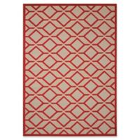 Nourison Aloha Geometric 5-Foot 3-Inch x 7-Foot 5-Inch Indoor/Outdoor Area Rug in Red