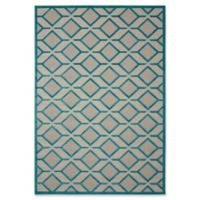 Nourison Aloha Geometric 5-Foot 3-Inch x 7-Foot 5-Inch Indoor/Outdoor Area Rug in Blue