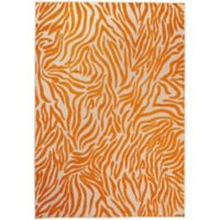 Nourison Aloha Exotic 3-Foot 6-Inch x 5-Foot 6-Inch Indoor/Outdoor Area Rug in Orange