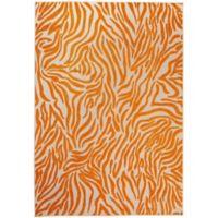 Nourison Aloha Exotic 7-Foot 10-Inch x 10-Foot 6-Inch Indoor/Outdoor Area Rug in Orange