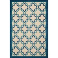 Nourison Aloha Trellis 3-Foot 6-Inch x 5-Foot 6-Inch Indoor/Outdoor Area Rug in Navy