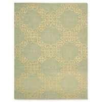 Nourison Ambrose Diamond 7-Foot 9-Inch x 9-Foot 9-Inch Area Rug in Light Green