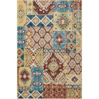 Nourison Aria Diamond Collage 3-Foot 11-Inch x 5-Foot 11-Inch Area Rug in Sunset
