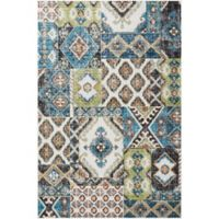 Nourison Aria Diamond Collage 3-Foot 11-Inch x 5-Foot 11-Inch Area Rug in Indigo