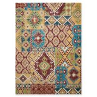 Nourison Aria Diamond Collage 5-Foot 3-Inch x 7-Foot 3-Inch Area Rug in Sunset