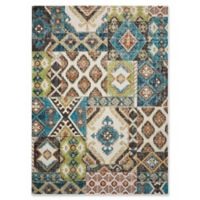 Nourison Aria Diamond Collage 5-Foot 3-Inch x 7-Foot 3-Inch Area Rug in Indigo