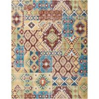 Nourison Aria Diamond Collage 7-Foot 10-Inch x 10-Foot Area Rug in Sunset