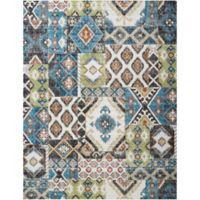 Nourison Aria Diamond Collage 7-Foot 10-Inch x 10-Foot Area Rug in Indigo
