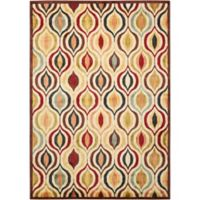 Nourison Aristo Ogee Multicolor 3-Foot 9-Inch x 5-Foot 9-Inch Accent Rug