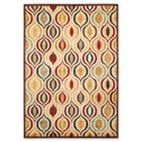 Nourison Aristo Ogee Multicolor5-Foot 3-Inch x 7-Foot 5-Inch Area Rug