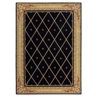 Nourison Ashton House 5-Foot 6-Inch x 7-Foot 5-Inch Area Rug in Black