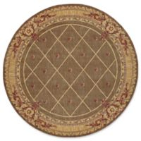 Nourison Ashton House 7-Foot 5-Inch Round Area Rug in Cocoa