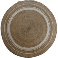 Jute 48 Inch Round Rug In Natural
