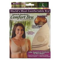 Miracle Bamboo® Large Comfort Bra in Beige