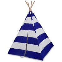 Olive Kids Striped Canvas Teepee in Blue