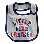 "carter's® ""Little Firecracker  Bib in Grey"