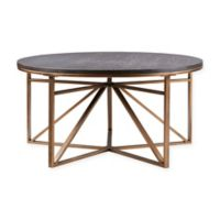 Madison Park Madison Round Coffee Table in Antique Bronze