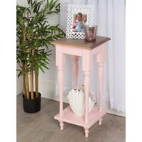 Kate and Laurel Sophia End Table in Pink