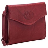 Buxton® Heiress French Zip Accordion Purse in Red