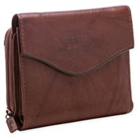 Buxton® Heiress French Zip Accordion Purse in Mahogany