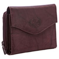 Buxton® Heiress French Zip Accordion Purse in Burgundy