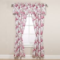 Laura Ashley® Lidia 84-Inch Rod Pocket Window Curtain Panel Pair in Pink