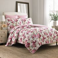 Laura Ashley® Lidia Full/Queen Quilt Set in Pink
