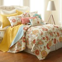 Levtex Home Araya Reversible Full/Queen Quilt Set in Red