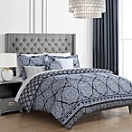 Lacienne Medallion 10-Piece Reversible Queen Comforter Set in Navy