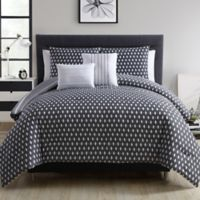 VCNY Home Malik 5-Piece King Comforter Set in Black/Grey