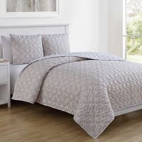 VCNY Home Inspire Me Gwem Twin XL Quilt Set in Taupe